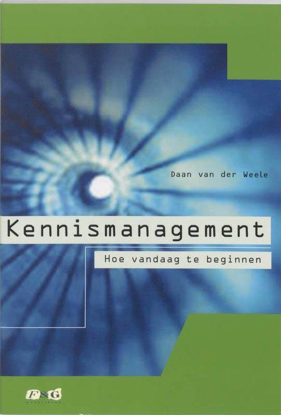 Kennismanagement - P. van der Weelen |
