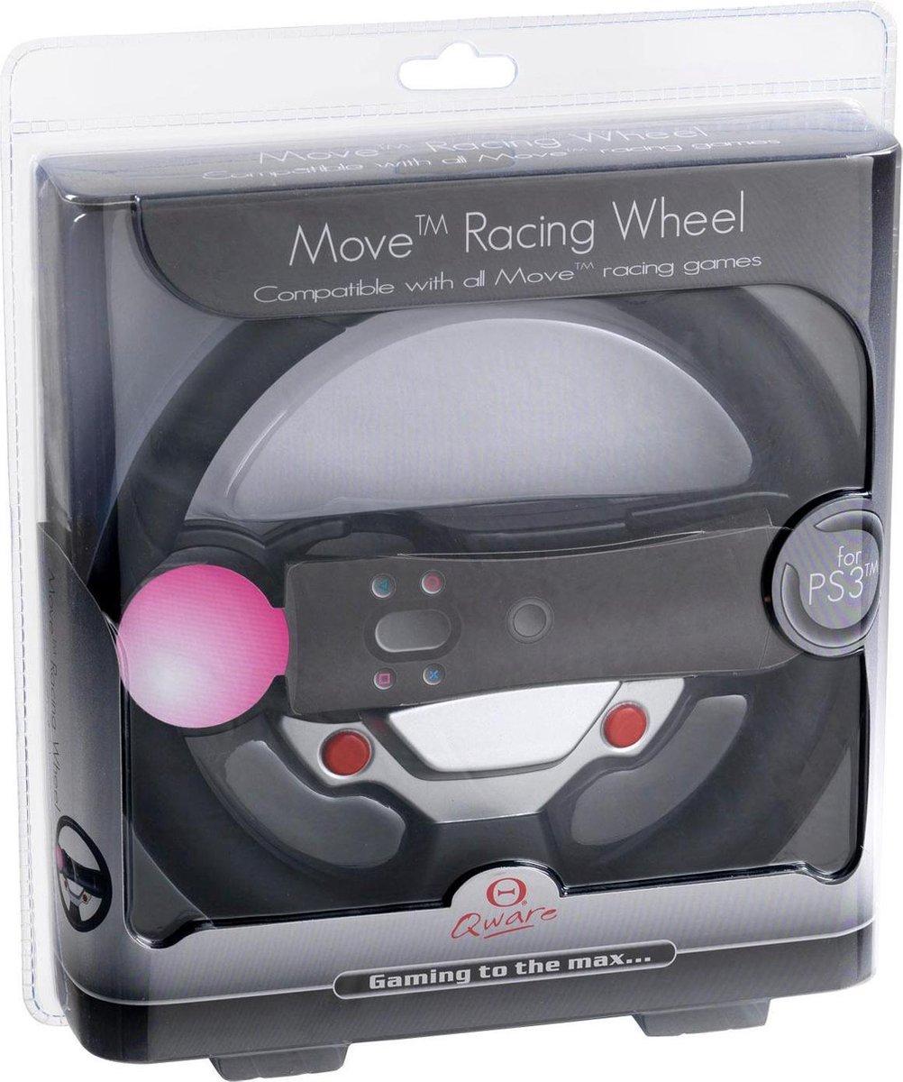 Qware Stuurwiel Zwart PS3 Move