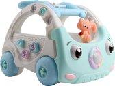 Baby Walker - Loopwagen - Spelenderwijs leren lopen - Multifunctionele Loopwagen Met Afstandsbediening en microfoon - Blauw