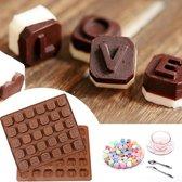 Kitchen Princess - Siliconen Chocoladevorm Alfabet Groot - Fondant Bonbonvorm