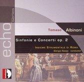 Albinoni: Sinfonie E Concerti Op.2