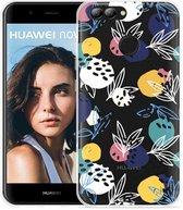 Huawei Nova 2 Hoesje Abstract Flowers
