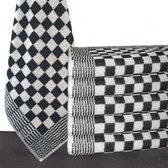 Homéé® Keukendoek zwart / wit geblokt - 50x50cm - set van 6 stuks - 100% katoenen badstof
