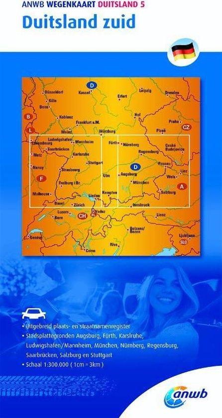 ANWB wegenkaart - Duitsland 5. Duitsland zuid - ANWB |