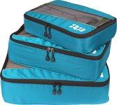 TravelMore Packing Cubes Set 3 delig- Lichtblauw