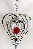 """Cosmo Spinner - ca. 8"""" / 20 cm Heart Hart windspinner"""
