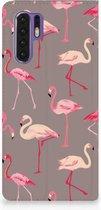 Huawei P30 Pro Uniek Standcase Hoesje Flamingo