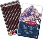 Derwent Coloursoft Potloden in blik 12 stuks