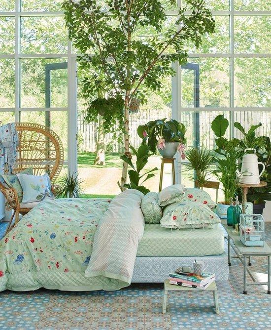 Pip Studio Hummingbirds Kussensloop - 60x70 - Green