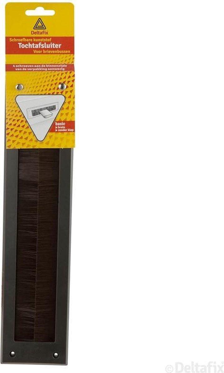 Deltafix Brievenbus borsteltochtplaat     voor briefplaat bruin - Deltafix