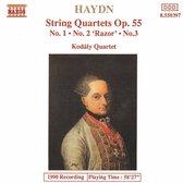 Haydn: String Quartets Op 55 / Kodaly Quartet