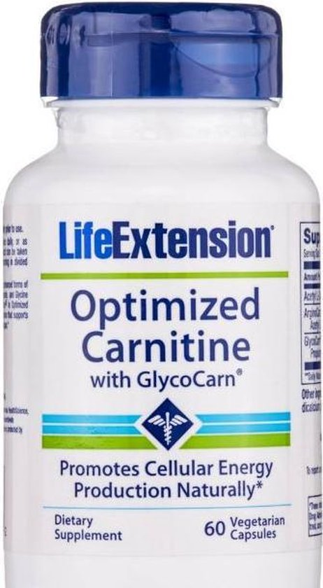 Optimised Carnitine with Glycocarn, 60 vegetarian capsules  - Life Extension