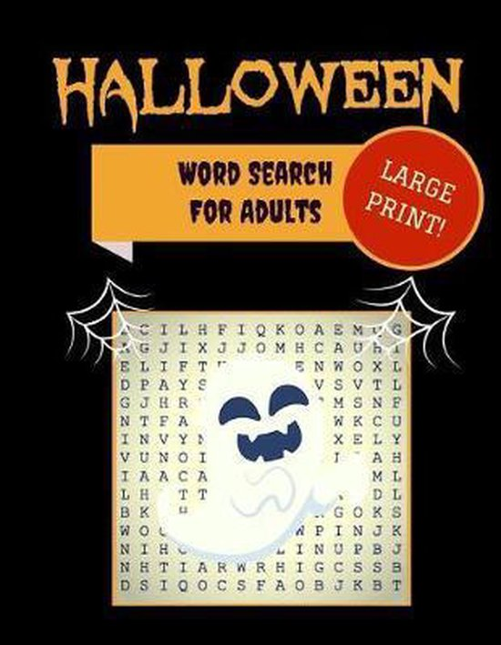 Large Print Halloween Word Search