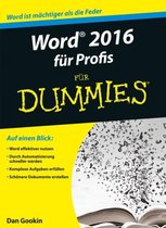 Boek cover Word 2016 fur Profis fur Dummies van Dan Gookin