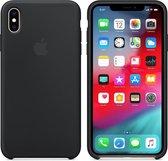 Apple Siliconen Back Cover voor iPhone XS Max - Zwart