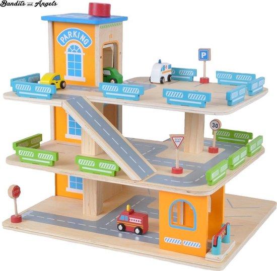 Afbeelding van Houten garage Bandits Parking Experience speelgoed
