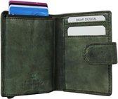 Bear Design RFID antiskim wallet - Groen