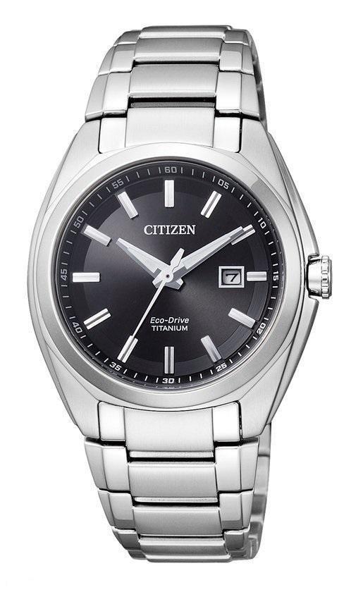 Citizen Super Titanium - Horloge - Titanium - Ø 34 mm - Zilverkleurig / Zwart - Solar uurwerk