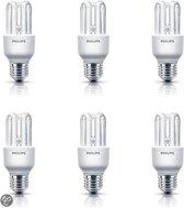 Philips Spaarlamp Genie - 8W - E27 Fitting - 6 stuks