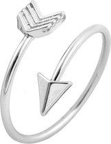 24/7 Jewelry Collection Pijl Ring Verstelbaar - Verstelbare Ring - Zilverkleurig
