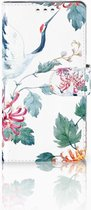 Sony Xperia XZ1 Bookcase Hoesje Bird Flowers