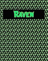 120 Page Handwriting Practice Book with Green Alien Cover Raven