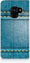 Samsung Galaxy A8 (2018) Standcase Hoesje Design Jeans