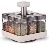 Kruidenrek staand Coninx Pico - draaibaar 360 graden- 8 kruidenpotjes - Kruidencarrousel - Compacte kruidenhouder de keuken
