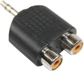 3,5 mm jack verloop naar 2 x tulp/cinch/RCA