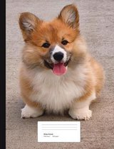 Corgi Puppy Composition Book Wide Ruled