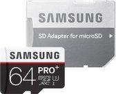 Samsung Pro+ Micro SDXC Class 10 64GB met Adapter