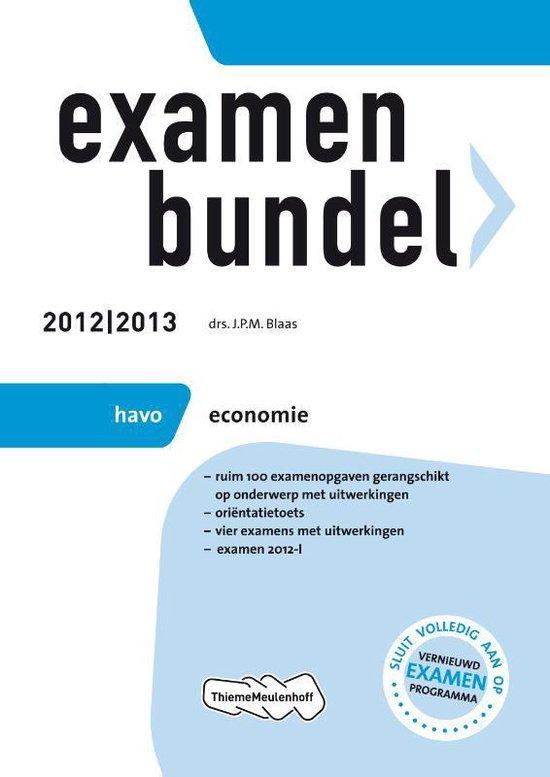 Examenbundel HAVO economie- 2012/2013 - none pdf epub