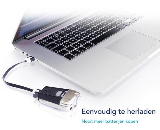 TIGR Ultraheldere LED Fietsverlichtingsset - USB Oplaadbaar - 300 Lumen - Inclusief Siliconenhouders - Lage-batterij Indicator