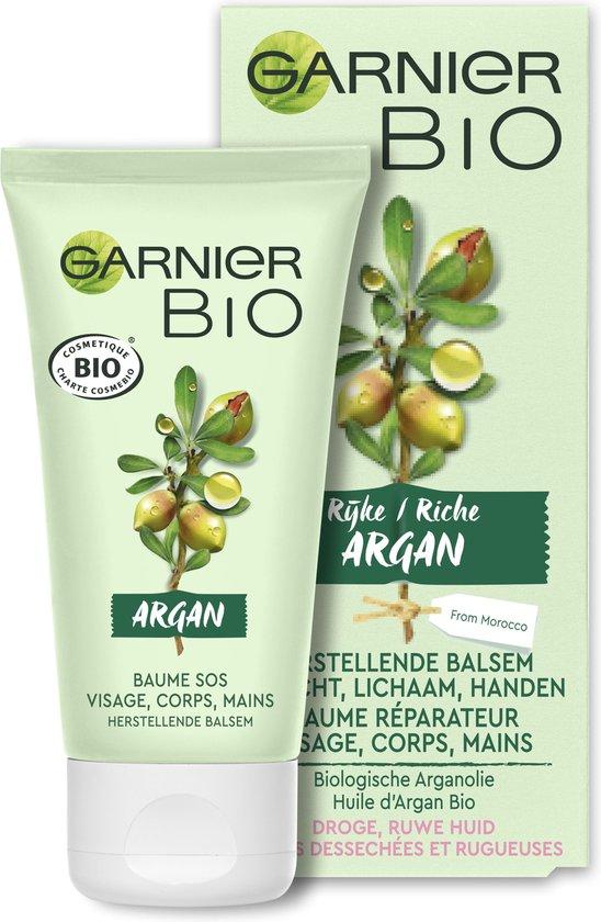 Garnier Bio Herstellende Balsem gezicht, lichaam, handen Rijke Argan - Droge, ruwe huid - 50 ml