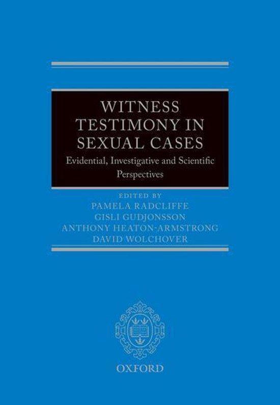 Boek cover Witness Testimony in Sexual Cases van  (Onbekend)