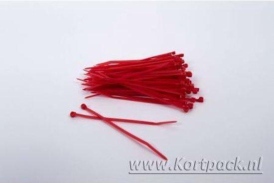 1000 stuks Rode kabelbinders 2.5mm x 200mm (099.0388)