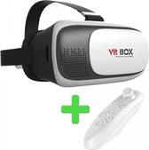 VR BOX VR Bril + Bluetooth Remote Control - White