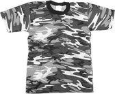 Grijs camouflage t-shirt korte mouw 3XL