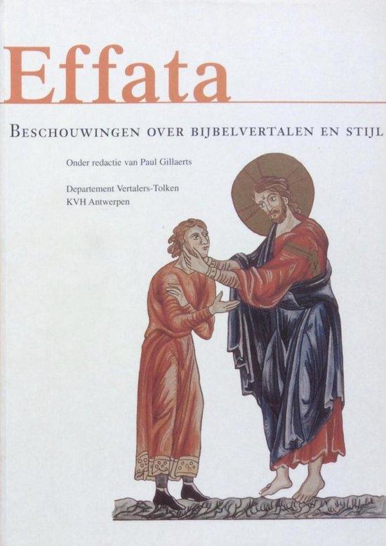 Boek cover Effata van P. Gillaerts (Paperback)