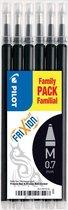 Pilot Family Pack Familial - Vullingen voor Frixion Ball en Frixion Ball Clicker - 6 stuks - Zwart