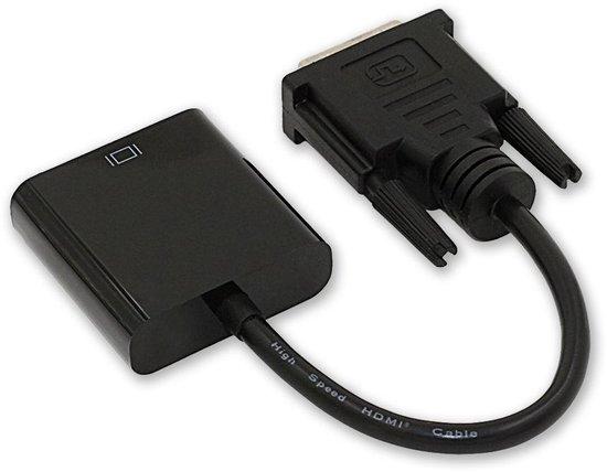 DVI naar VGA kabel - 25 cm - HD kwaliteit - Zwart
