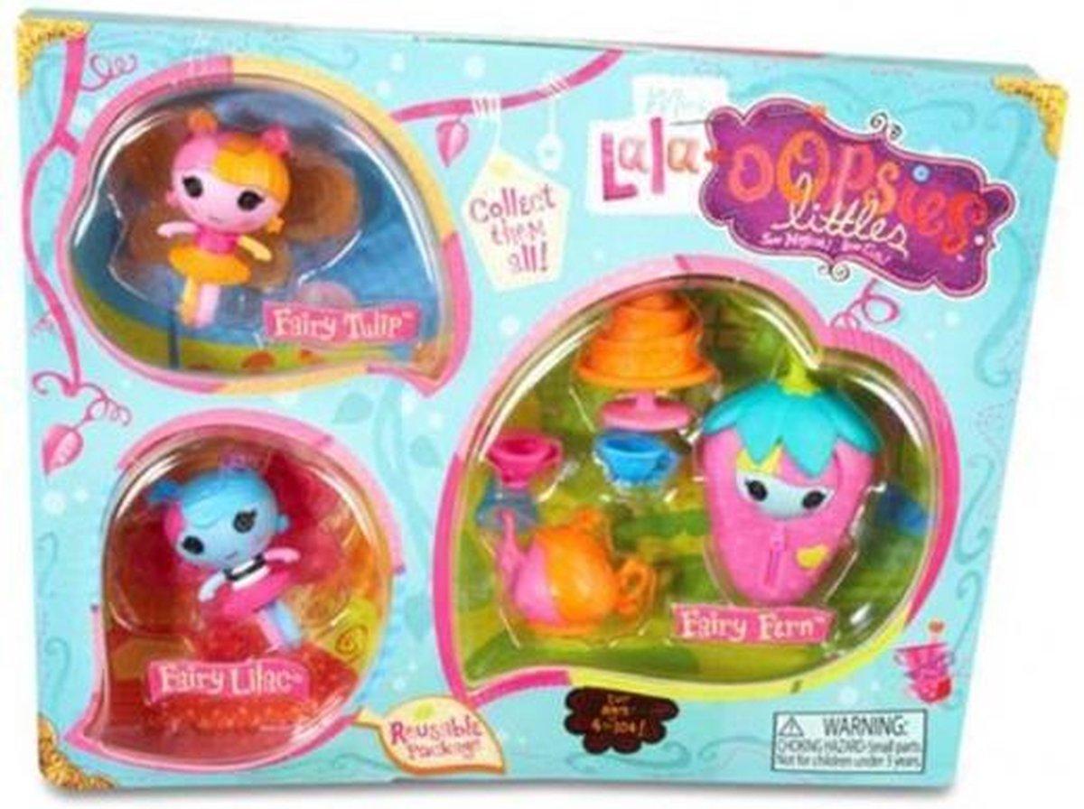 Mini Lala-Oopsie Littles 3-Pack Fairies - Tulip\Lilac\Fern