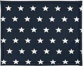 Jollein Boxkleed - 75x95cm - Little star - navy blauw