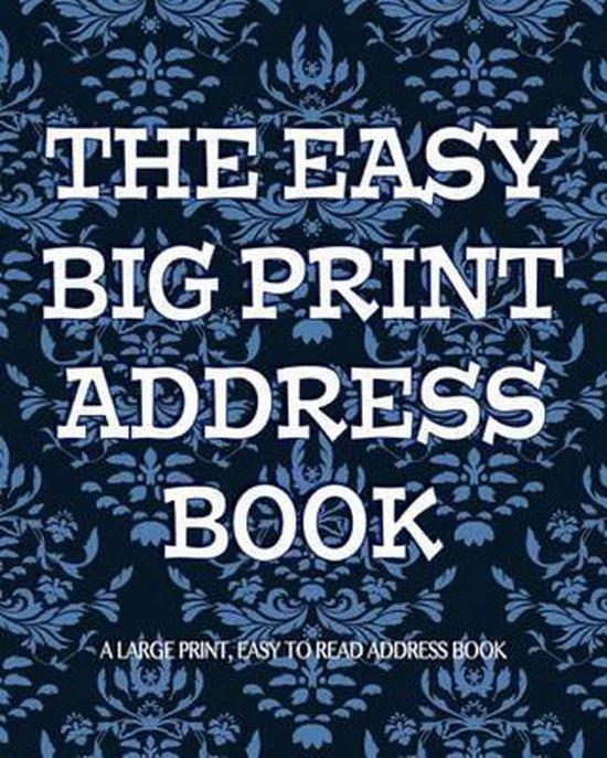 The Easy Big Print Address Book
