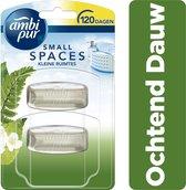 Ambi Pur Small Spaces Ochtend Dauw Navulling - 2x5,5ml - Luchtverfrisser
