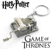 Harry Potter & Game Of Thrones | Handmatige Muziekdozen Sleutelhangers | 2 Stuks