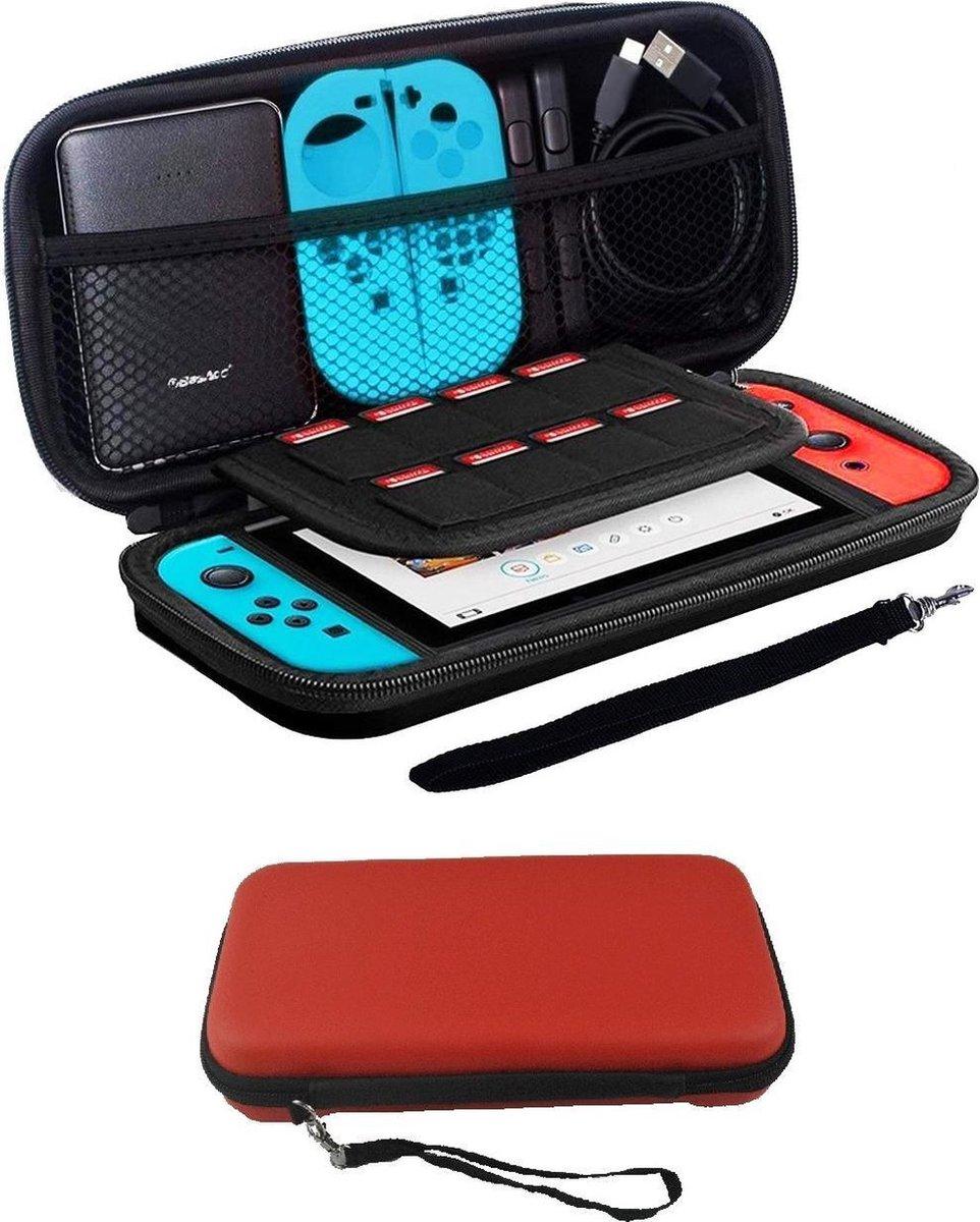 Bescherm Hoesje Geschikt voor Nintendo Switch Case Hard Cover - Rood