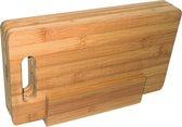 Point-Virgule Snijplank - Set Ontbijtplankjes - In Houder - Bamboe - 4 Stuks