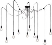Lucide FIX MULTIPLE - Hanglamp - 10xE27 - Zwart