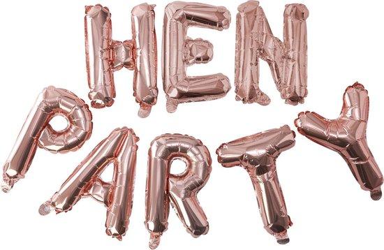 Ginger Ray Team Bride 'Hen Party' ballon slinger - rosé goud - Set-1